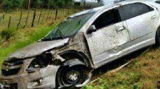 un concordiense se mato al volcar su auto en la ruta 14
