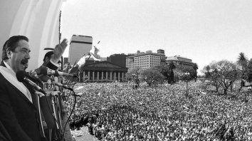 recuerdan a los 35 anos de democracia y a la figura de raul alfonsin