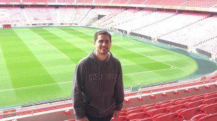 La nueva casa. El jugador de 36 años está hace una semana en el imponente club europeo. Desde su casa se puede observar el estadio del club de Lisboa.