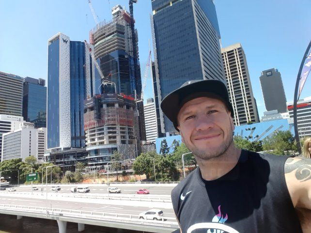 Wenceslao Mansilla espera por el pesaje en Australia