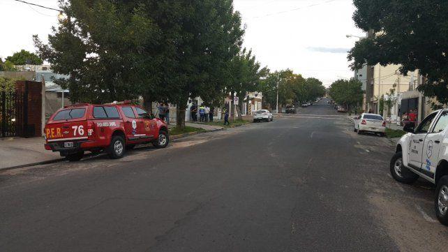 Calle Colón estuvo cortada durante buena parte de la tarde.