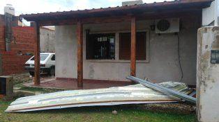 El viento destruyó viviendas y un jardín de infantes en San Benito