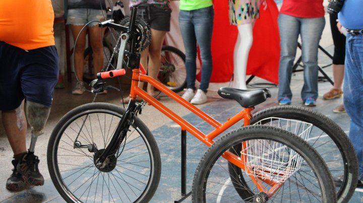 La bicicleta adaptada.