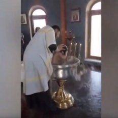 Filmaron el video en una iglesia rusa.