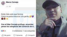 acusado de narco fue declarado profugo pero el lo desmiente por facebook