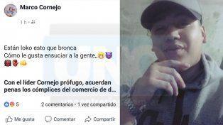 Acusado de narco fue declarado prófugo pero él lo desmiente por Facebook