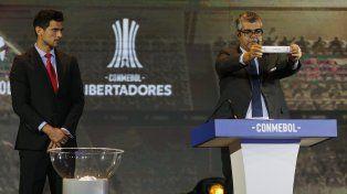 El sorteo con presencia de los equipos argentinos.
