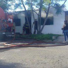 Dolor. Por el fuego, la familia perdió casi todas sus pertenencias.