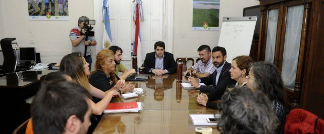 La reunión en Casa de Gobierno.