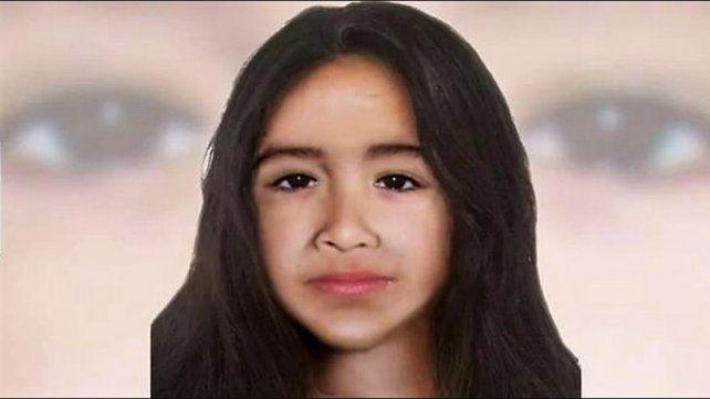Identikit actualizado de la niña.