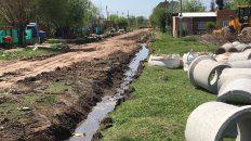importantes obras de mejorado de calles y desagües en barrio capiba