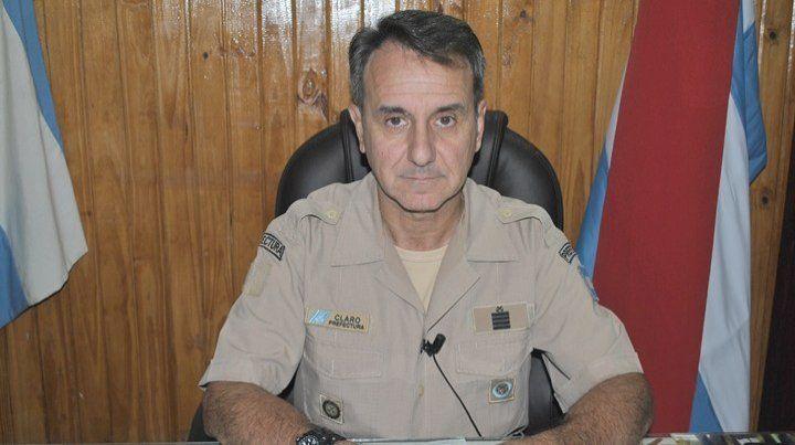 Datos oficiales. El jefe de Prefectura Diamante brindó la información en una rueda de prensa.