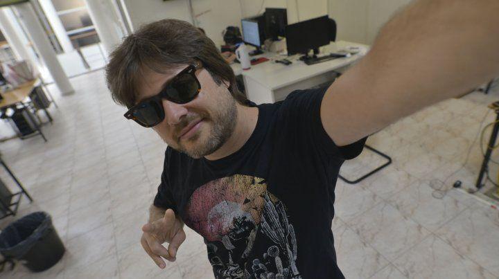 Licho Álvarez en la redacción de UNO.