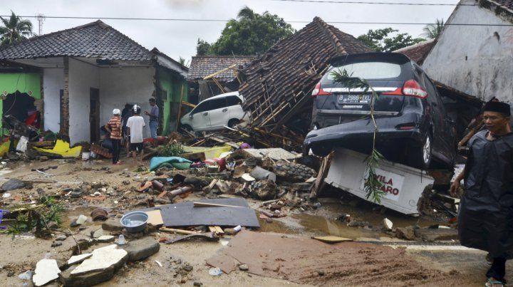 Destrucción total. En la región afectada no quedaron viviendas en pie; se teme la posibilidad de focos infecciosos.