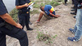 Uno de los detenidos.