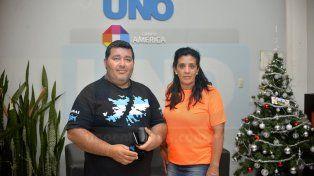 Denuncia. Guillermo Villagra y su esposa