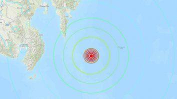 un sismo de magnitud 7,2 se sintio en indonesia y filipinas
