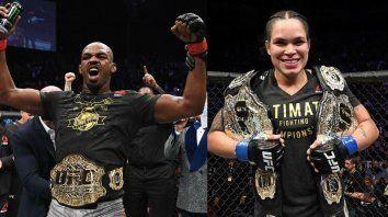 Jon Jones y Amanda Nunes podrían ser calificados como las máximas figuras del UFC este fin de año.
