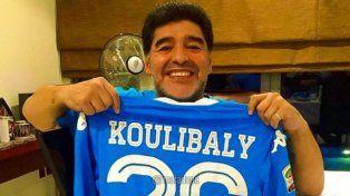Maradona respaldó a Koulibaly por los insultos racistas