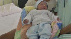 Renzo, el primer bebé entrerriano, es muy lindo.
