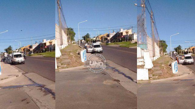 Las bolsas de residuos quedaron en Avenida Don Bosco.