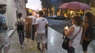 Damián Verzeñassi acompañó con su cámara de fotos la movilización.