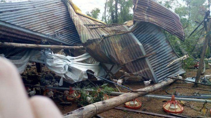 La tormenta provocó graves destrozos en Médanos