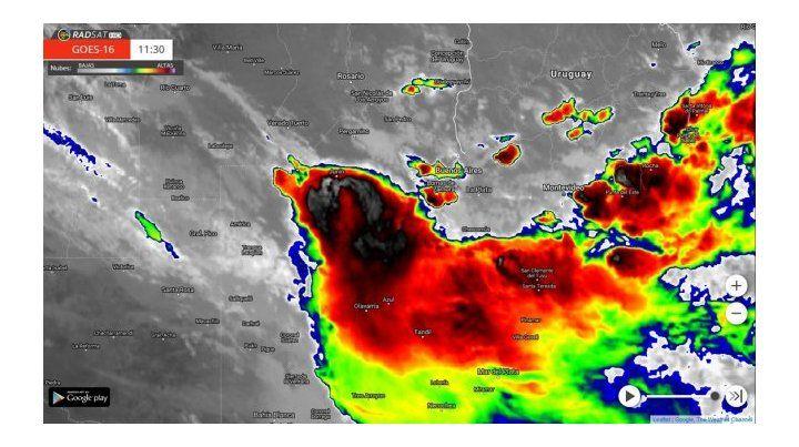 Atención, hay alerta por tormentas y granizo para varias ciudades entrerrianas