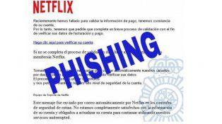 Denuncian nueva forma de estafa con avisos falsos de Netflix