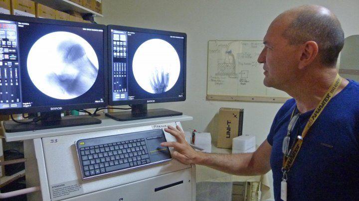 Arco en c. La unidad que funcionará en Traumatología del San Martín es una de las últimas inversiones.