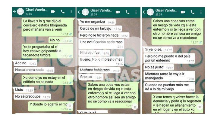 No me puedo ir del país por un enfermo: los chats de la policía asesinada por su expareja
