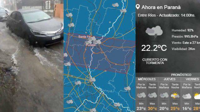 VIDEOS | La lluvia y el viento complicaron la circulación en Paraná