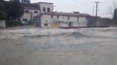 Santa Elena. El 80% del pueblo está muy afectado por la acumulación de agua.