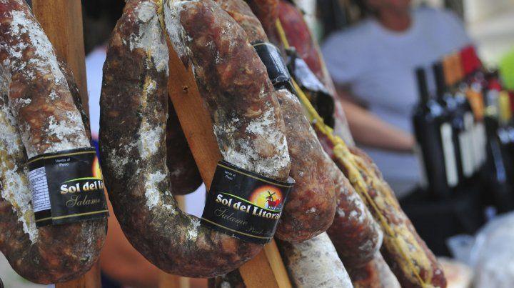 Los salames entrerrianos son un clásico de las ferias.