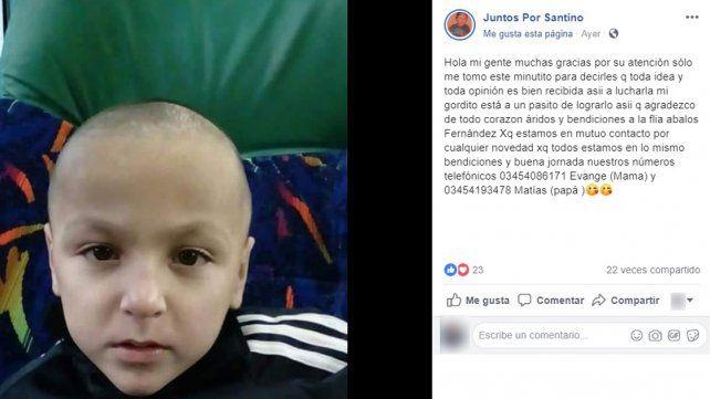 Santino es de San Salvador, padece parálisis cerebral necesita ayuda para iniciar un tratamiento