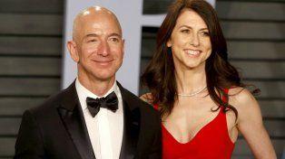 Bezos y su ahora exmujer,MacKenzie Tuttle.
