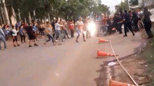 Momentos de tensión en la toma de viviendas de Concepción del Uruguay