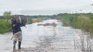 Paso La Picada sufre las consecuencias de las lluvias y obras paradas