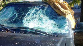 Se desquitaron. En la denuncia se acusa a los vecinos de Salinas de dañar la camioneta.