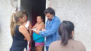 El municipio realiza un relevamiento de los damnificados