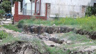 Santa Elena está sin agua por el deslizamiento de la barranca