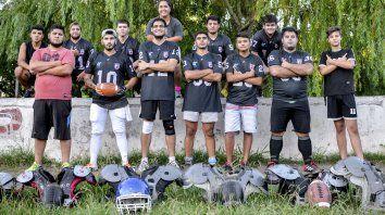 El primer equipo de Paraná Rebels.