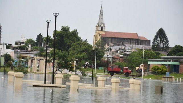 Concordia. La ciudad es una de las más afectadas por la creciente.