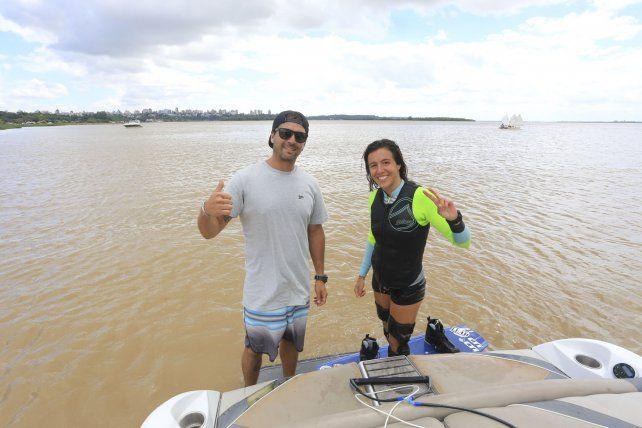 Renato Buscema y Vicky de Armas antes de salir a un nuevo entrenamiento.