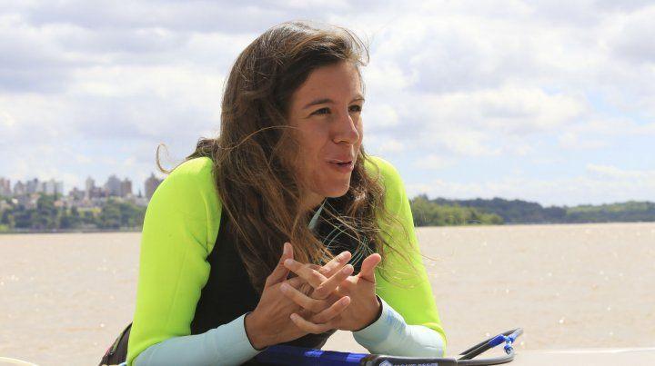 Vicky de Armas comenzó a andar en wakeboard a los ocho años.
