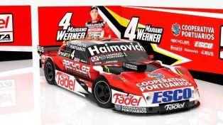 A estrenar. El auto que Werner presentará en la nueva temporada del Turismo Carretera.