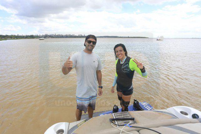 Dupla. Buscema y De Armas se conocen hace mucho y forman parte del seleccionado argentino de wakeboard.