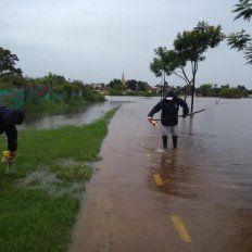 Crecida. Las aguas del río Uruguay progresivamente fueron avanzando sobre distintos asentamientos.