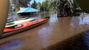 Las embarcaciones están a salvo pero el quincho del Náutico quedó bajo el agua.
