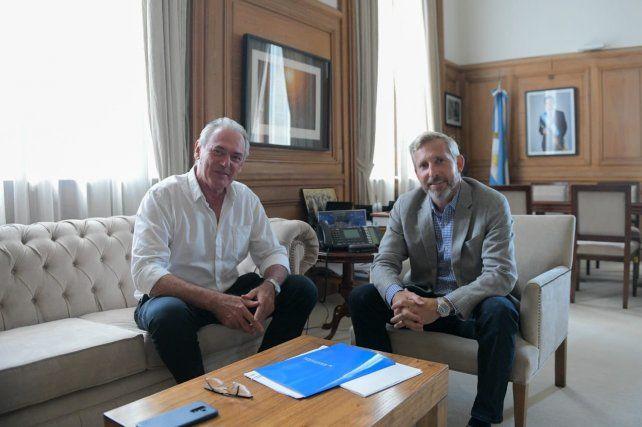 Reunión. Frigerio charló con Benedetti